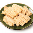Stock Photo: Chinese or koreYub(tofu bamboo) on white background