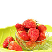 Beautiful strawberries on white background — Stock Photo
