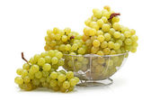 Bunch of fresh grapes on white background — Stock Photo