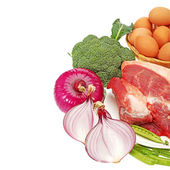 Fresh meat and Vegetables — Stockfoto