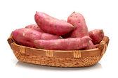 Sweet potato on the white background — Stock Photo
