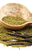 Mung beans on white background — Stock Photo