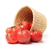 Fresh tomato isolated on white background — Stock Photo