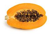Papaya fruit isolated on a white background — Stock Photo