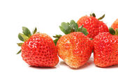 Beautiful strawberries on white background — Stock Photo