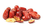 Red date on white background — Stockfoto