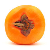 Persimmon on white background — Stock Photo