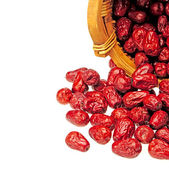 Red date on white background — Stock Photo