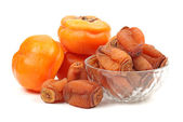 Dry Persimmon on white background — Stock Photo