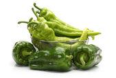 Green pepper on white background — Stock Photo