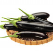 Aubergine on white background — Stok fotoğraf
