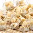 Ravioli Siu Mai on white background — Stockfoto