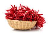 Red Hot Chili on white background — Stock Photo