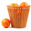 Orange on the white background — Stock Photo #28724847