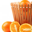 Orange on the white background — Stock Photo