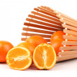 Stock Photo: Orange on the white background