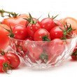 Small cherry tomato on white background close up — Stock Photo