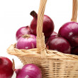 Red onion isolated on white background — Stock Photo
