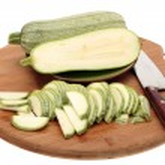 Light green turkish zucchini's on a white background — Stock Photo