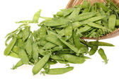 Snow peas isolated on white background — Stock Photo