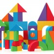The toy castle from color blocks isolated on a white background — Stock Photo #28932023