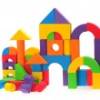 The toy castle from color blocks — Stock Photo #28968981