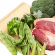 Fresh meat and Vegetables — Stock Photo