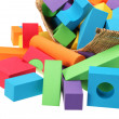 The toy castle from color blocks isolated on a white background — Stock Photo #29224979