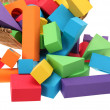 The toy castle from color blocks isolated on a white background — Stock Photo #29226947