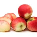 Peach on white background — Stock Photo