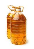 Bottle oil plastic big on white background — Stock Photo