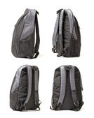 Black backpack on a white background — Stock Photo