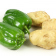 Green pepper and potatoes — Stock Photo