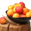 Group apricot on a white background — Stock Photo