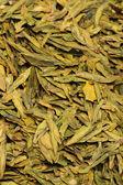 Chinese green tea background — Stock Photo