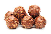 Chocolate candy on white background — Stock Photo