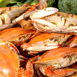 Stockfoto: Steamed crabs