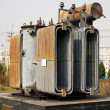 Stock Photo: Electrical power transformer