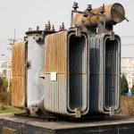 elektrisk ström transformator — Stockfoto