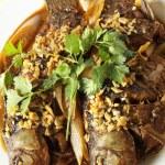 Fried fish crucian — Stock Photo #30316733