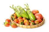 Aubergine and tomato — Stock Photo