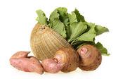 Сладкий картофель и Таро — Стоковое фото