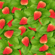 Seamless texture of juicy strawberries — Stock Photo