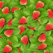 Seamless texture of juicy strawberries — Stock Photo