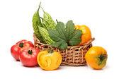Fresh vegetables on a white background — Stock Photo
