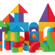 Stock Photo: The toy castle from color blocks