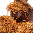 Loose shredded tobacco — Stock Photo