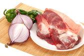新鲜的肉和蔬菜 — 图库照片