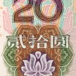 Chinese money rmb background detail texture — Stock Photo