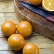 Cutting Orange — Stock Photo